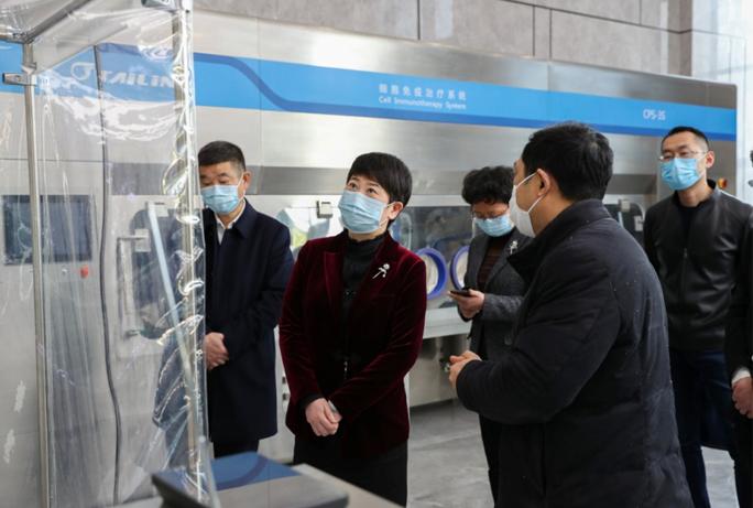 杭州市卫健委主任孙雍容一行赴泰林生物调研